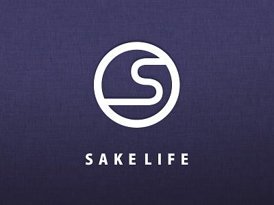 SAKELIFE Logo design ec logo graphics simple sake brand golden ratio identity alcohol