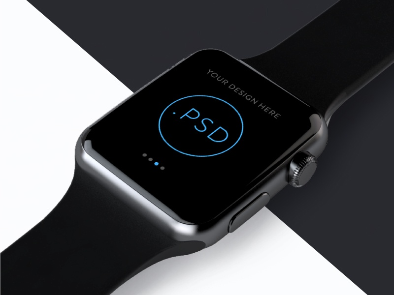 Apple Watch Free Mockup PSD_ver.2(Editable background image) ios app mockup watch apple free psd template
