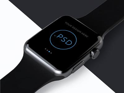 Apple Watch Free Mockup PSD_ver.2(Editable background image) ios app mockup watch apple free psd template