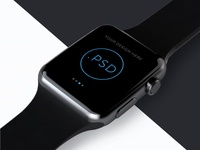 Apple Watch Free Mockup PSD_ver.2(Editable background image)