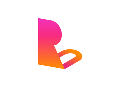RockU / Logo mark 3d game gradation design symbol mark logo
