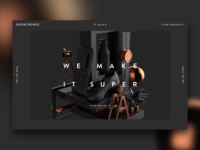 Super Crowds inc. - Portfolio cg 3d white black webdesign transition minimal portfolio ui animation