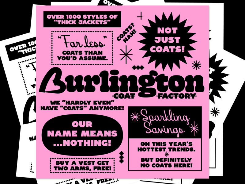 Sit There & Do Nothing: Stephen King's Magic Party bold ad fake flyer pink typography expressive type