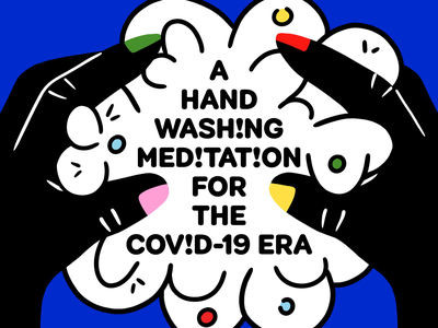 A Hand Washing Meditation for the Covid-19 Era lather soap hand washing washing hands illustration bold colorful hands
