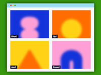 Overtime: Shut Up And Zoom! browser illustration video chat zoom abstract blur shapes
