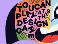 Overtime: Toucan Play At This (Design) Game cartoon playful fun type tropical bird toucan