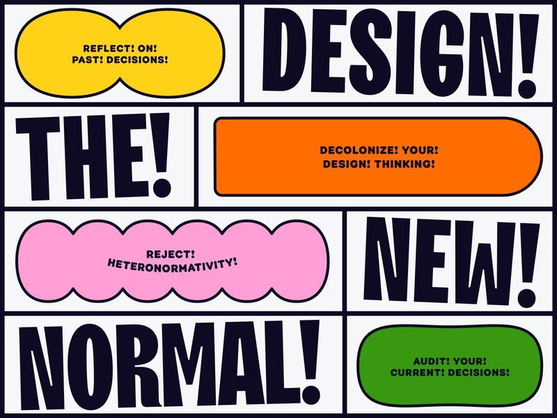 Overtime: Design The New Normal grid geometric fun personality shapes podcast art