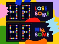 Overtime: Ya Lose Some, Ya Win Some podcast cover abstract happy friendly geometric shapes score score board scoreboard