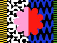 Throw Pattern stripes warp trippy playful fun bright bold graphic pattern