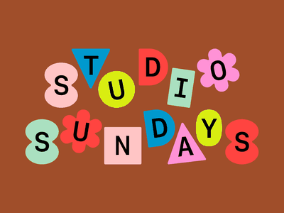 Studio Sundays Logo logotype logo design friendly fun geometric flowers logo brand design