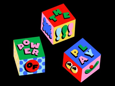 Overtime: The Power of Play cubes dice fun playful eyes clown colorful 3d cube
