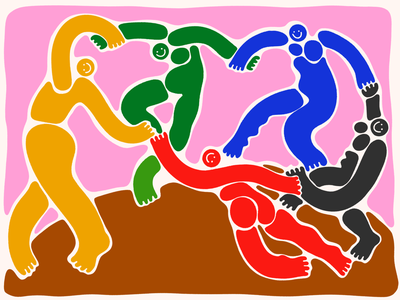 Blob Dance people figures dance illustration knockoff matisse