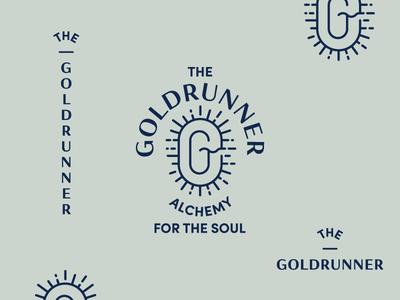 The Goldrunner Brand badge collage logo brand burst energy