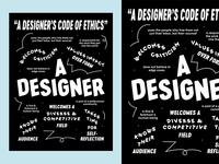 Designer's Code of Ethics Poster