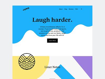 Juno Web geometric water slime goo incontinence colorful shapes web design website web