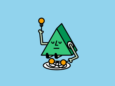 Meatball Friend eating food pasta colorful friendly shape illustration character