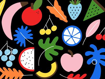 Swimwear Pattern: Fruits! procreate hand drawn summer fruit pattern