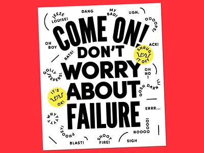Failure Poster lines shrug print typographic poster typographic fun friendly type