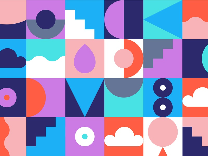 Dropmark Pattern abstract color geometric pattern