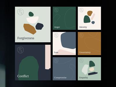 Social Media Campaign soft organic blobs shapes instagram post feed instagram social media templates social media