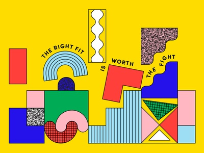 Fulfilling Career type bright friendly happy shapes fun geometry illustration