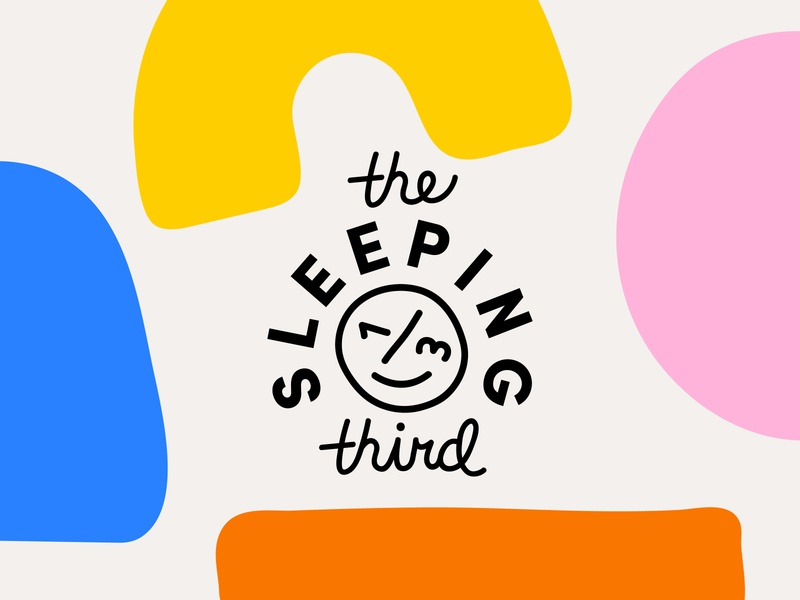 The Sleeping Third Final Brand mark face wonky script bright colorful blobs shapes brand design identity branding
