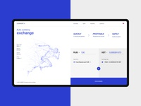 Currency exchange service. Concept