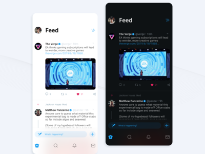 Twitter Home Redesign in Light & Dark