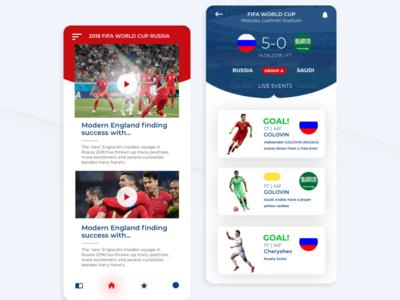 FiFa world cup app concept