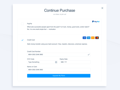 Purchase Popup