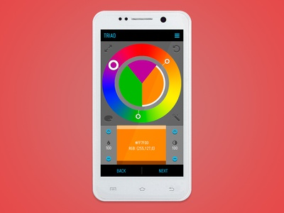 ColorSeek App - Edit Color Scheme design ui user interface color android app designers creatives illustrators