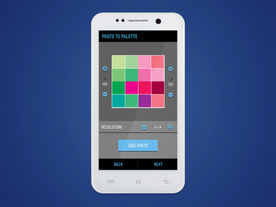 ColorSeek App - Photo to Palette design ui user interface color android app designers creatives illustrators