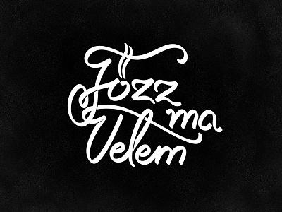 Főzz Ma Velem logo design logo identity vector hand drawn lettering designcraft