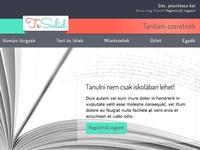 Online school web app design