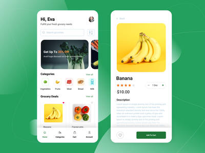 Grocery Shopping App online grocery shopping app grocery shopping app grocery shopping online shopping online concept design concept design figma groceries app grocery app grocery uidesign ui