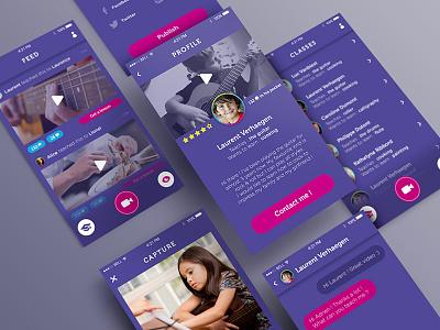 Mentos Classes concept profile video social ui mobileapp