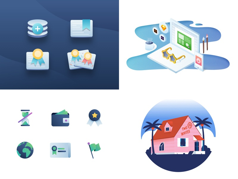 2018 gradient icon design datacamp illustration 2018 top4