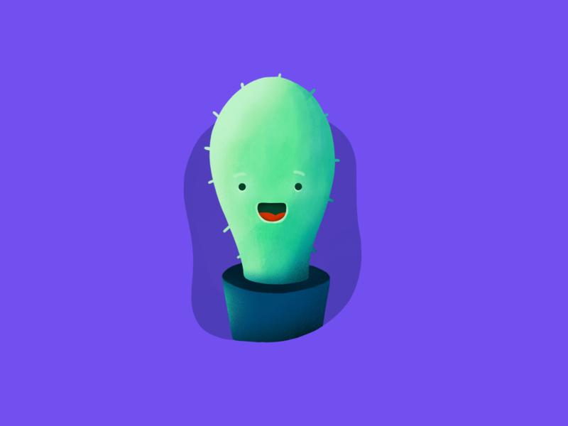 Cactus procreate friend illustration cactus