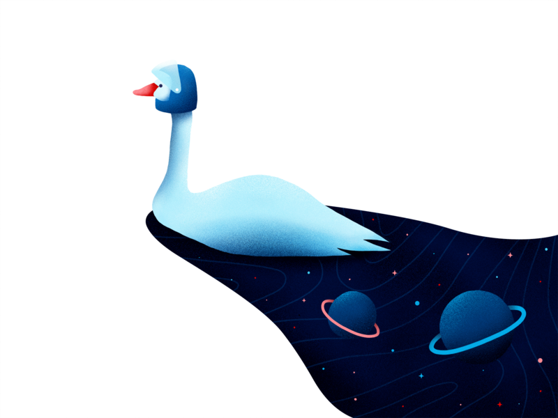 Space Goose 🚀💫 brushes noise procreate explore galaxy goose space illustration