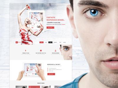Ampere - design concept  web graphic ampere theme wordpress red