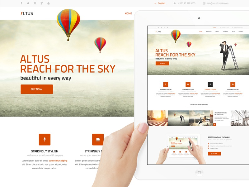 Altus - Future Wordpress Theme web worpdress themeforest theme clean modern website