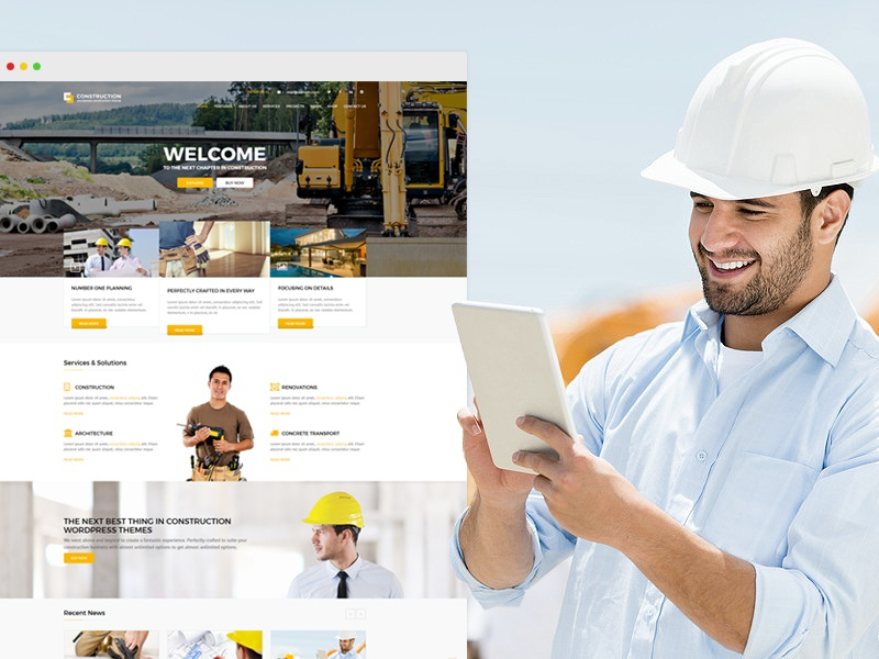 Construction business html5 template by anpsthemes dribbble friedricerecipe Gallery