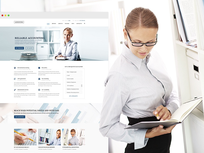 Accounting - WP Business theme for Accountants themeforest theme wordpress accounting