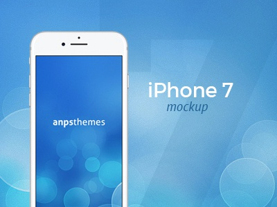 iPhone 7 FREE PSD Mockup wordpress anpsthemes iphone7 mockup psd