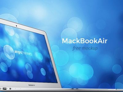 MacBook Air FREE PSD Mockup mockup psd free macbook air