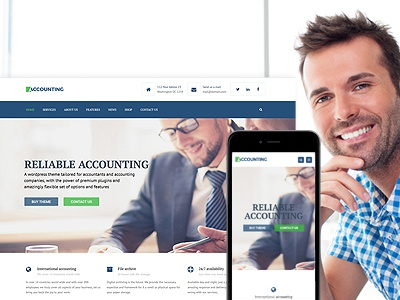 Free Accounting HTML/CSS Templates consulting business accounting template css html free