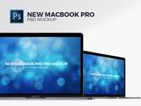 New MacBookPro PSD Mockup