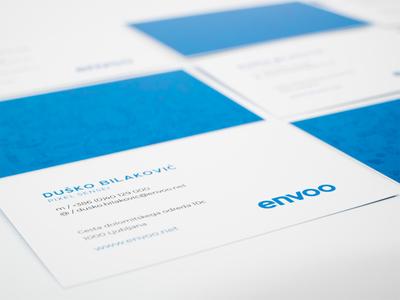 Envoo Business Cards logo branding business cards