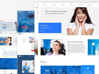 Dental WordPress Theme design in progress themeforest photoshop design theme dental wordpress