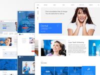 Dental WordPress Theme design in progress